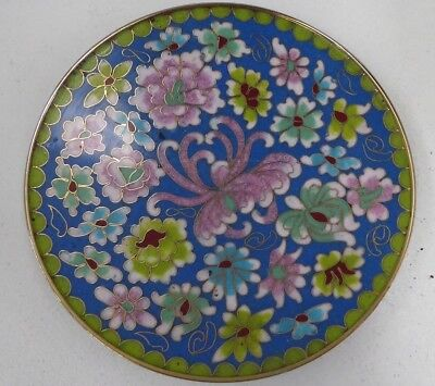 Early Japanese Cloisonne Enamel Dish