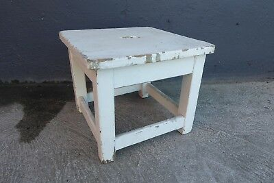 Antique Rustic Pine Stool Ex Royal Womens Hospital Melbourne
