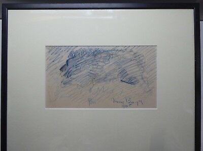 Merric Boyd 1945 Framed Drawing Of Peter His Dog Signed Original Painting