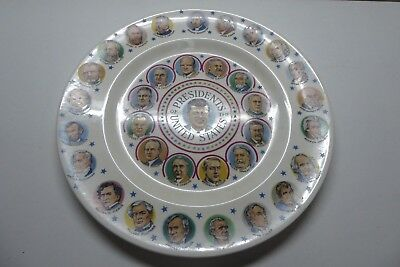 Presidents Of The United States America Ceramic Pottery Picture Plate Kennedy