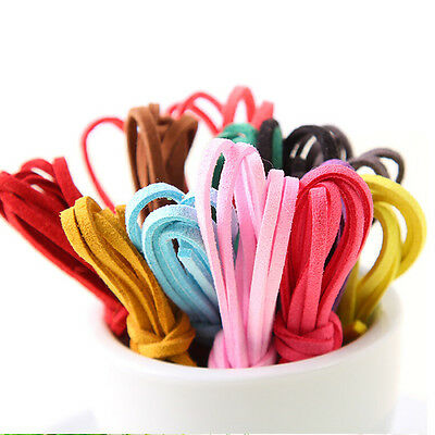 Flat Real Suede Leather Cord Lace Thong Jewellery Making String Craft 1M 3mm FO