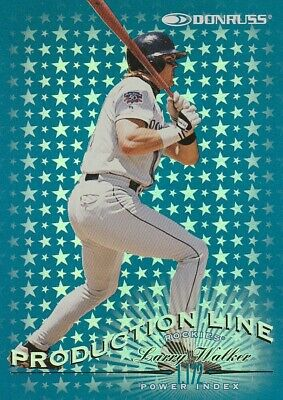 d5d36f39b 1997 Donruss LARRY WALKER Production Line SP insert Colorado Rockies  1172