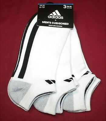 Adidas White 3-pairs Shoe Sz 6-12 Men Casual No Show Socks Sale C05 Socks Clothing, Shoes, Accessories
