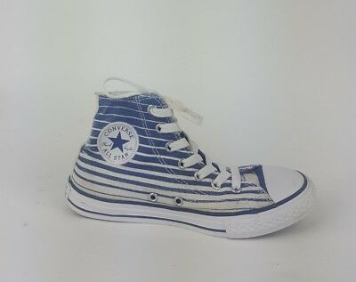 d43bd98b2ac2 Converse All Star Blue White High Tops Boys Trainers - Size UK 2
