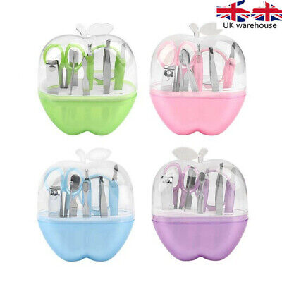 9pcs Apples Shape Manicure Set Nail Scissors Cosmetic Makeup Tool with box