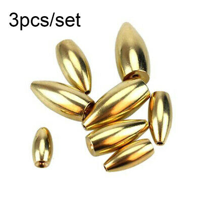 Tungsten Worm Flippings Weights Gold Bullet Bass Fishing Sinker Tackle Fishings