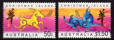 2003 Christmas Island Lunar New Year of the Goat Pair, Fine Used