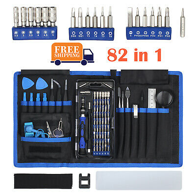 82PCS Precision Small Screwdriver Set  Repair Tool Kit  56 Bit Magnetic Driver