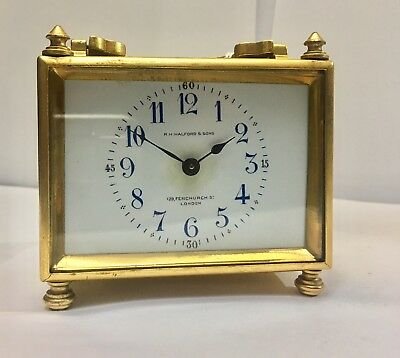 R H Halford & Son Antique Small Carriage Clock