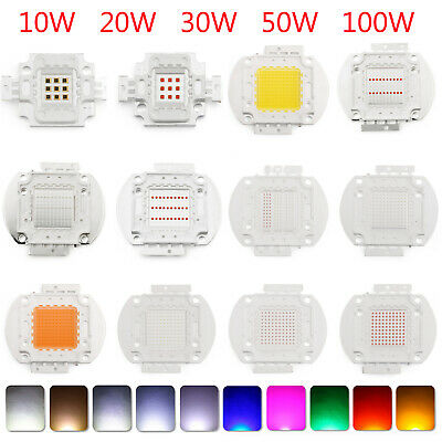 10W 20W 30W 50W 100W LED COB SMD Chip Cool Warm White Haute Puissance Lampe AF