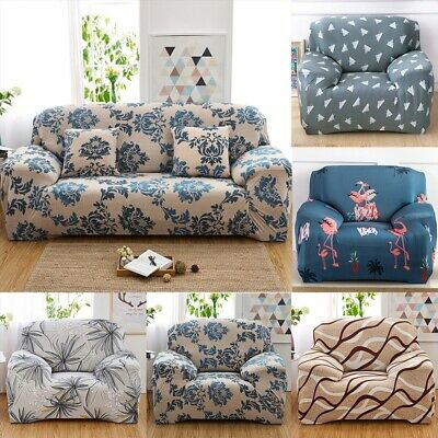1/2/3/4 Seater Stretch Sofa Couch Covers Slip Cover Lounge Dining Chair Cover K