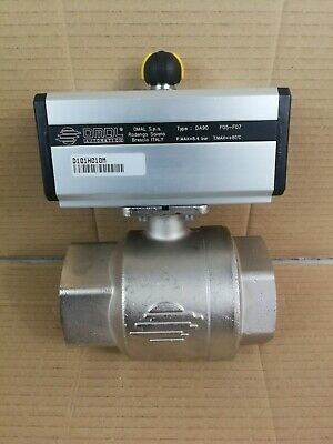 "Omal 2.5""BSP 2 Way Double Acting Pneumatic Actuated Ball Valve DA90 D101H010M"