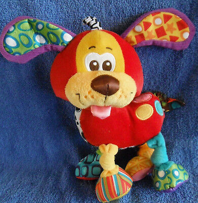 *1716a* Pooky puppy dog - Playgro - activity - rattles - 24cm