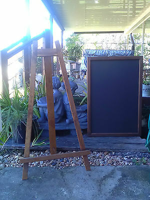 Timber Display Easel and Menu Board Set Restaurant Cafe Coffee Shop Conference