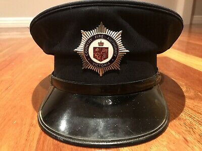 Country Fire Authority Victoria Vintage Fireman Peaked Hat Collectable
