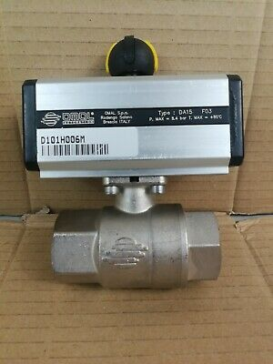 "Omal  1""BSP 2 Way Double Acting Pneumatic Actuated Ball Valve Typ DA15 D101H006M"