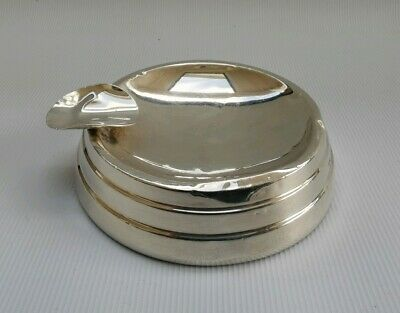 Vtg 1952 Walker & Hall Art Deco Solid Silver Cigarette Cheroot Cigar Ashtray