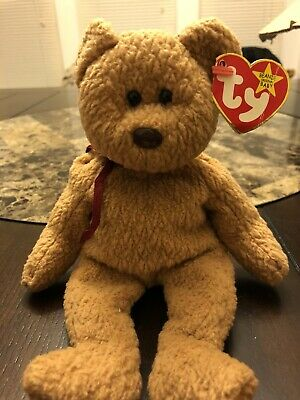 d6f4b61d1bb TY BEANIE BABY - Curly Brown Bear - Retired
