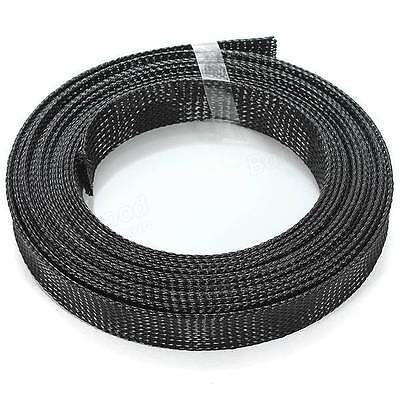 Braided Cable Wire Sleeving High Density 1m-LENGTHS 12mm-22mm Expandable PET