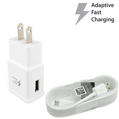 For Samsung Galaxy S6 Edge+ Note 4 5 Adaptive Fast Charger + Micro USB Cable Lot