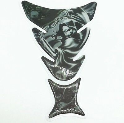Grim Reaper Death 3D Motorcycle Fuel Tank Decal Pad Protector Cover Sticker
