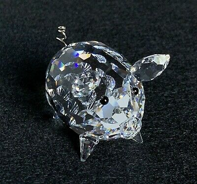 0f64160c6 RARE Retired Swarovski Crystal Medium Pig / Wire Tail V2 010031 Mint Boxed  7638