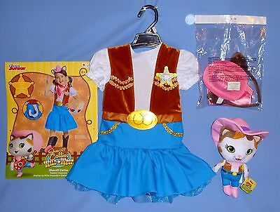 Disney Sheriff Callie Cowgirl costume dress girls 2T hat scarf ears plush a5c5f13d2a5f