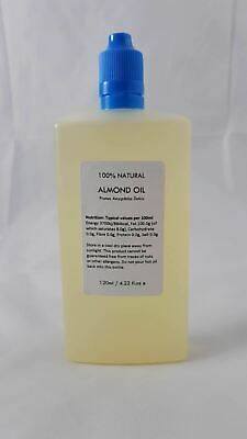 Sweet Almond Oil 120ml Natural Massage Oil Cold Pressed 100% Pure