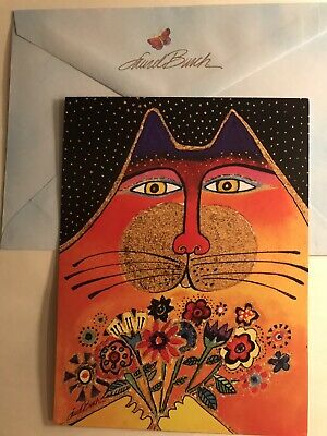 Laurel Burch Happy Birthday Greeting Card Cat Themed A Bunch Of Love