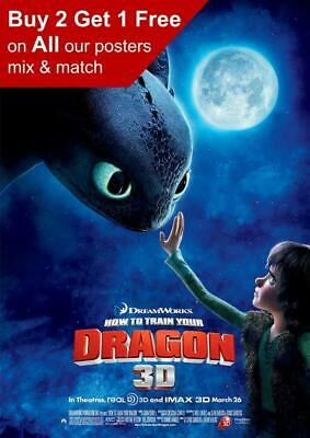 How To Train Your Dragon 2010 Movie Poster A5 A4 A3 A2 A1