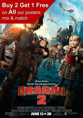 CHARACTER COLLAGE POSTER MOVIE 17356 HOW TO TRAIN YOUR DRAGON 3 22x34