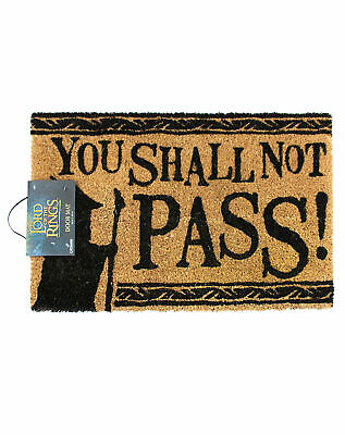 Lord Of The Rings You Shall Not Pass Coir Non Slip Door Mat 60x40cm