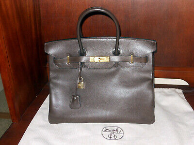 Hermes Birkin 30 Bag Beautiful Ostrich Parchemin Gold Hardware.