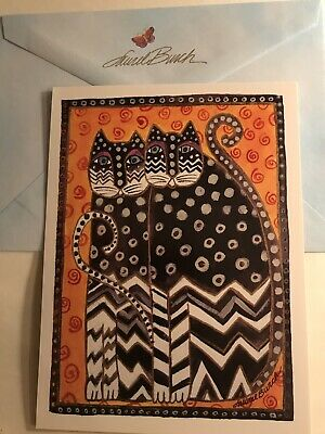 Laurel Burch Happy Birthday Greeting Card Cat Themed Free Shipping