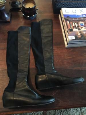 b029ad0ca4a Stuart Weitzman Black Leather Over The Knee Boot~Size 10.5