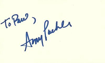 Amy Poehler Actress Comedian Snl Tv Show Autographed Signed Index Card Autographs-original