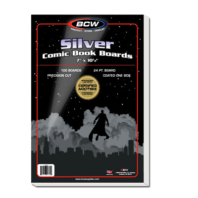 BCW Silver Comic Backing Boards - Pack of 100