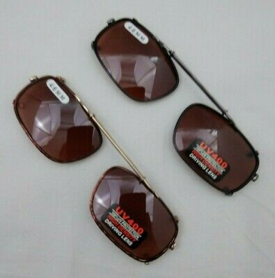NEW DRIVING UV Eye Protection Clip on Sunglasses / 46MM / 09746A