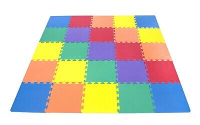 40pc Interlocking Multicolor Floor Mat Soft Foam Tiles Child Kids Activity