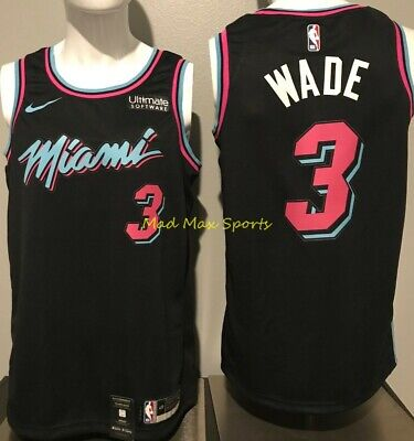 super popular 63051 4f4cc Dwyane Wade Nike Miami Heat Vice Uniform City Edition ...