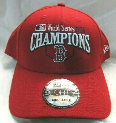 521a8d14c55e91 Boston Red Sox 2018 World Series Champions Red Hat Cap Adjustable New Era