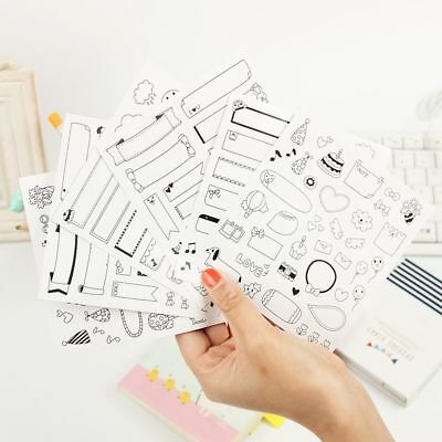 Lovely DIY  Paper Sticker Photo Album Scrapbook Calendar Diary Planner Decor