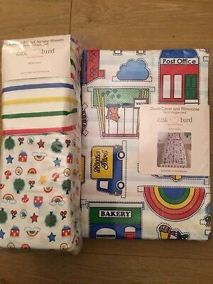 Little Bird By Jools Oliver Duvet Cover & Pillowcase & Fitted Sheets Single Bed