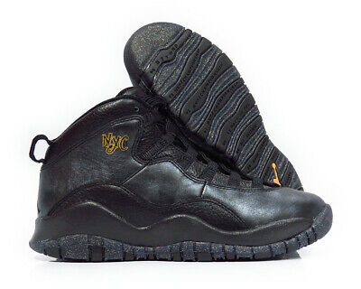 fa6d69afd4c 310806-012  NIKE AIR Jordan 10 Retro Black Gray Gold Grade School ...