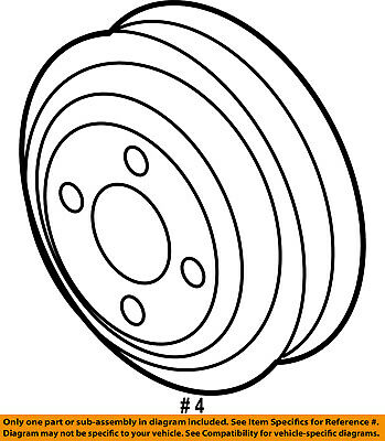 Genuine Ford Pulley F87z 8509 Ab