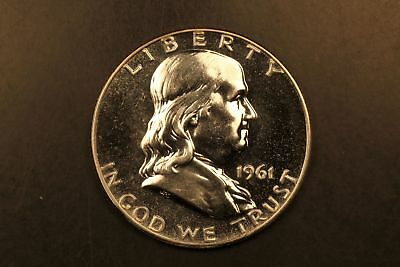 1961 Franklin silver 50c Proof #1239
