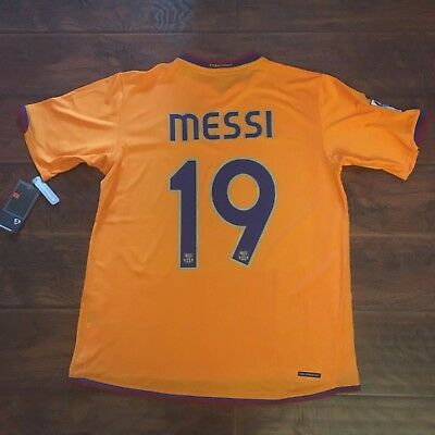 15f80dd4a 2007 08 Barcelona Third 3rd Jersey  19 Messi Large Nike Football Argentina  NEW