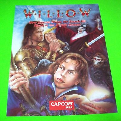 Capcom WILLOW Original NOS 1989 Video Arcade Game Promo Sales Flyer Great Art