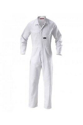 Work Overalls White Coveralls Heavy-Duty Size Men / Women - Poly/ Cotton Blend