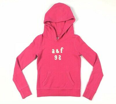 (6791) Youth Girls M Abercrombie & Fitch Kids Pink Pullover Hoodie Jacket